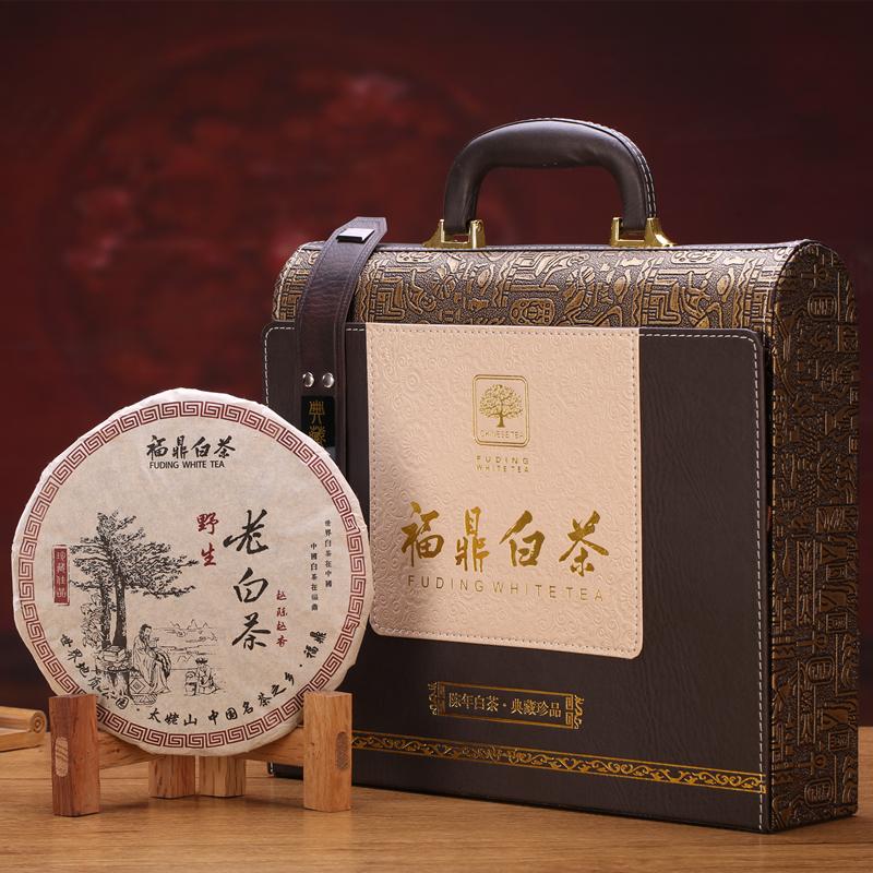 350g福鼎老白茶饼茶叶白茶礼盒装