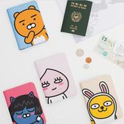 Phim hoạt hình Hộ Chiếu Bìa Ra khỏi Nhật Bản Nhật Bản Hàn Quốc Dễ Thương Hàn Quốc Gấu Nâu Gói Thẻ Hộ Chiếu ID Trường Hợp
