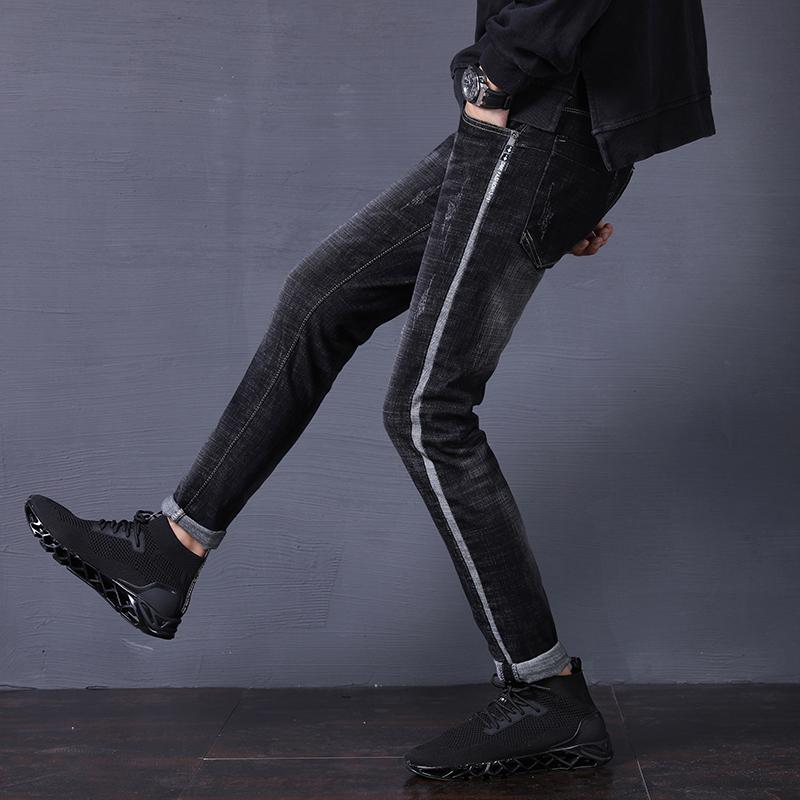 男士长裤牛仔裤小脚裤