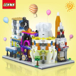小颗粒拼装积木城市街景系列迷你儿童男女孩活动礼品建筑益智玩具