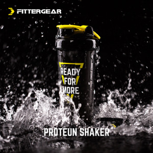 FitterGear Bột Protein Milkshake Tập Thể Dục Lắc Cup Thể Thao Xách Tay Chai Khuấy Cup Shaker