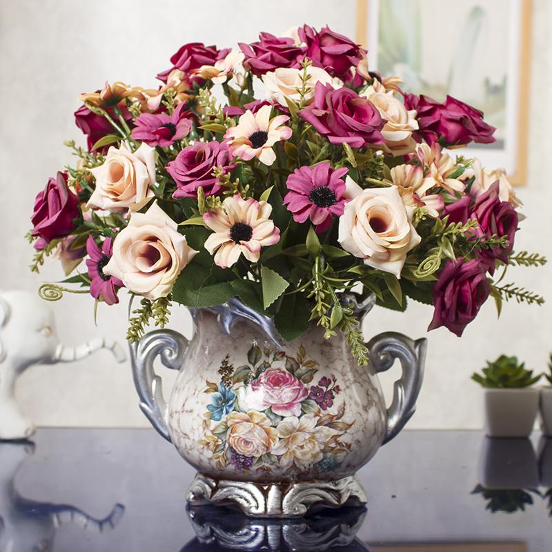 客厅摆设假花装饰家居创意摆件