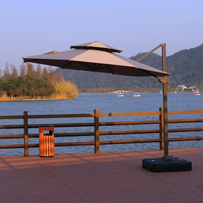 Ngoài trời Roman Umbrella Sun Parasol 3 m Gấp Vườn Ô Lớn Ngoài Trời Đồ Nội Thất Cà Phê Ô
