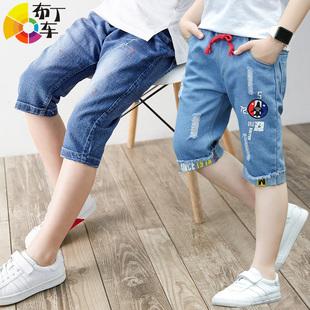 【布丁车】童装马裤牛仔裤中裤