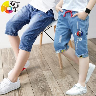 布丁车童装马裤牛仔裤中裤110-160