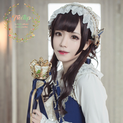 "42agent Treetop home Lolita wig ""Xinghe"" linkage long curly hair elegant temperament fake found - Taobao"