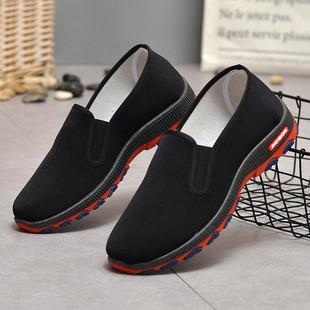 老北京透气黑布鞋休闲男鞋单鞋