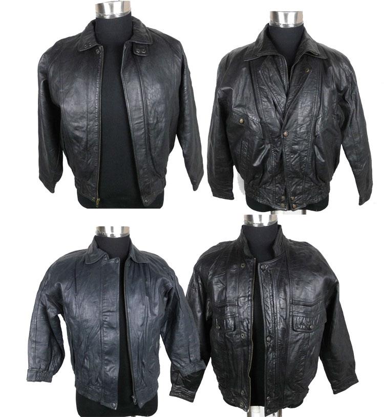 Cổ thứ hai tay người đàn ông trẻ tuổi của áo khoác da ngắn lỏng mùa thu và mùa đông nam da áo khoác da cừu da da
