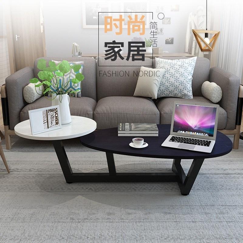 Bắc âu bàn cà phê kết hợp sáng tạo đá cẩm thạch căn hộ duy nhất đơn giản và thực tế trà ghế mini bàn trà hình chữ nhật