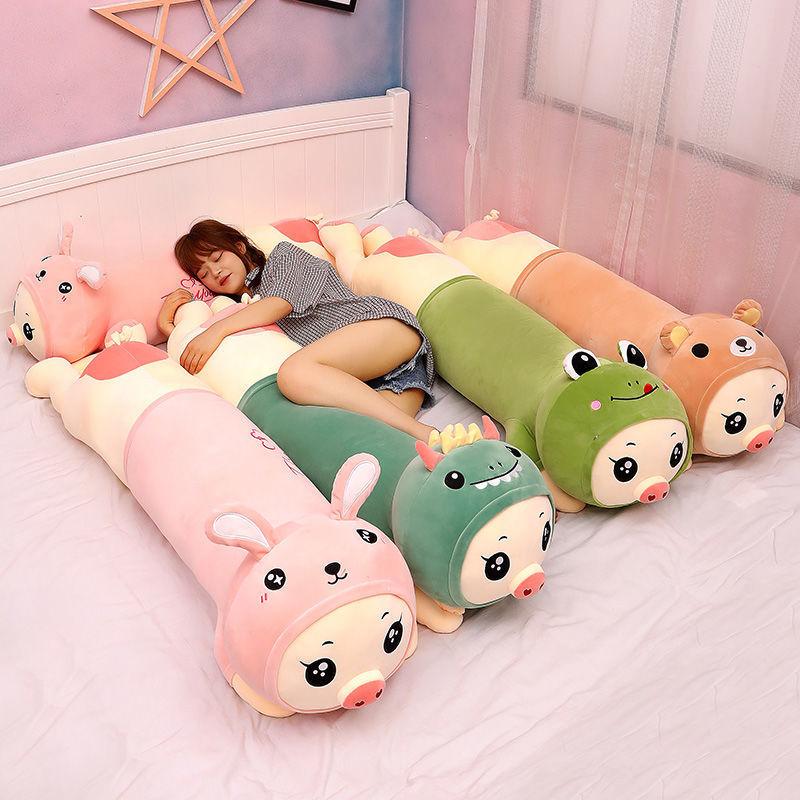 网红ins猪猪抱枕毛绒玩具儿童生日礼物女生睡觉青蛙娃娃恐龙玩偶