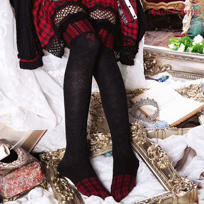 taobao agent Wolfhua Little Red Riding Hood Over the Knee Cotton Socks Classical Doll Lolita Over the Knee Cotton Socks Spot