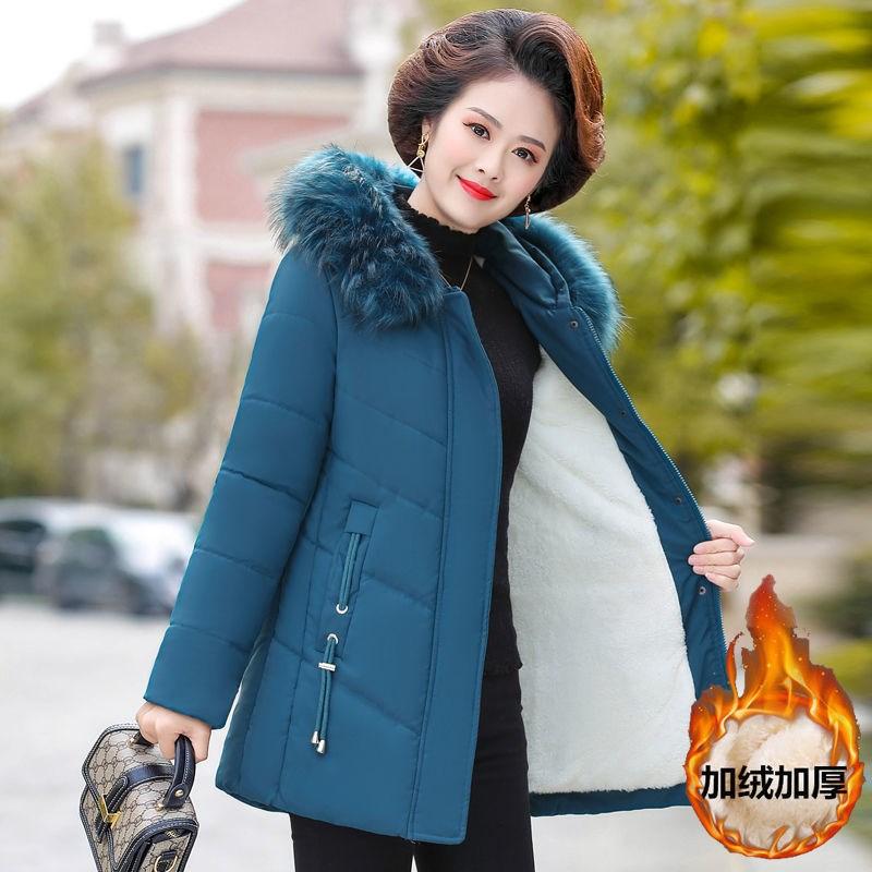 妈★妈秋冬装外套洋气小棉袄2020新款中老年人羽ω 绒棉服短款秋女装
