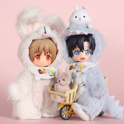 taobao agent Original OB11 baby clothes plush small animal jumpsuit GSC body Molly 12 points BJD doll clothes