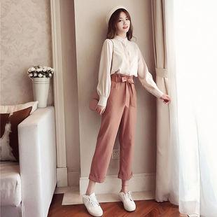 套装女衬衫气质女神休闲裤春季时尚两件套