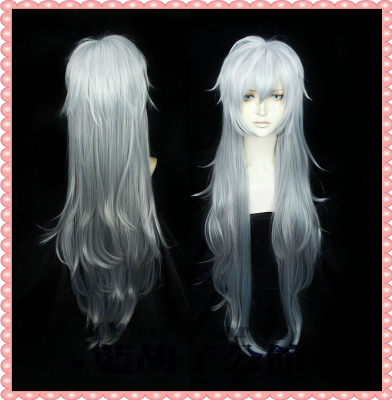 taobao agent 【Blue beard】Tomorrow's Ark Cos Wig Lapland Silver White Anti-Alice