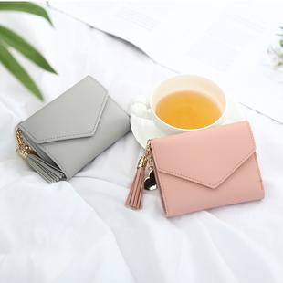 Новый бумажник женские короткие гжа модель небольшой свежий очень милый мини кошелек студент женский упаковка карта