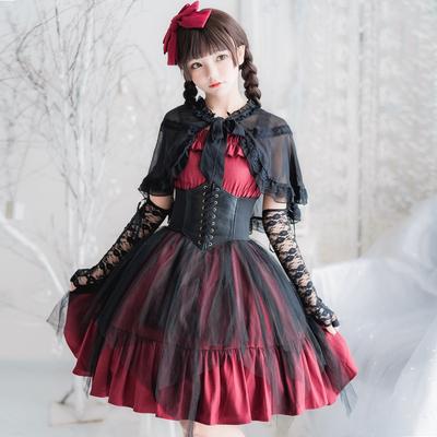 taobao agent Japanese dark soft girl boz punk gothic jsk dress Lolita suspender skirt court elegant girl