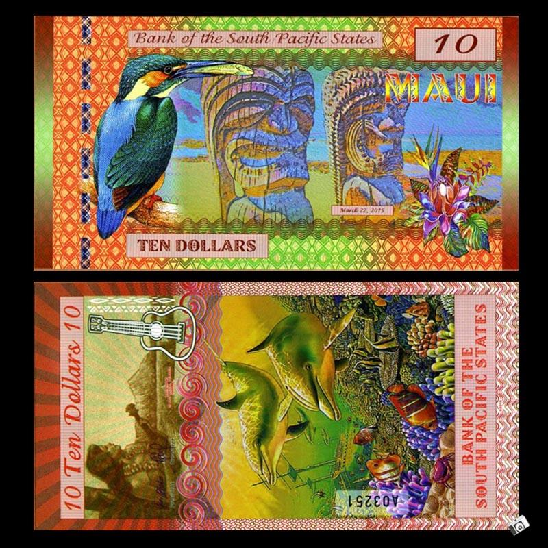 [Americas] thương hiệu mới UNC Nam Thái Bình Dương Ngân Hàng Quốc Gia 10 nhân dân tệ tiền giấy nhựa ngoại tệ tiền giấy