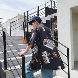 3104#亚博娱乐平台入口夏季韩版休闲情侣装短袖中长款T恤格子裙女翻领男衬衫