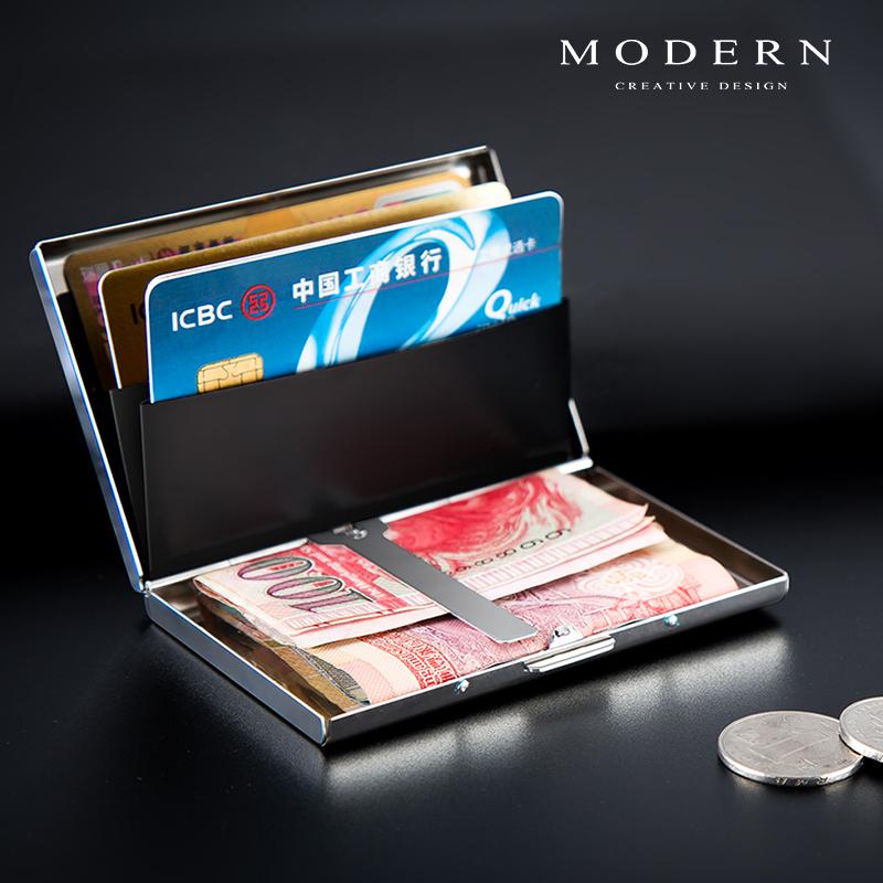 Đức HIỆN ĐẠI thẻ thép không gỉ chủ kim loại wallet wallet thẻ ngân hàng chủ thẻ tín dụng hộp thẻ chống trộm bàn chải