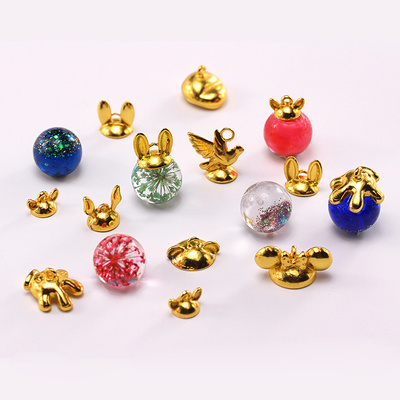 taobao agent Metal ring personality ball holder torus hanging cap hanging buckle DIY crystal epoxy uv glue spherical ball holder jewelry accessories