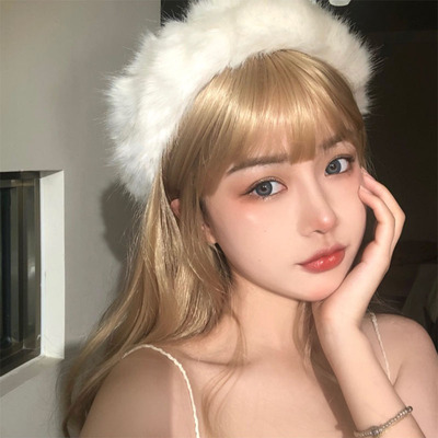 taobao agent Lisa's same blonde wig is white and net red rose female group hair color Barbie mid-length fairy female anchor natural