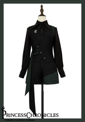 taobao agent 【PC original design】Knight Story Vintage Elegant British Gothic Gay Men's and Women's Vest Shorts