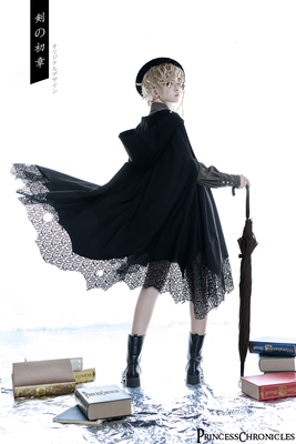 taobao agent 【Sold out display】The First Chapter of the Sword: Dark Ascetic Gothic Gothic Lolita Irregular Cloak