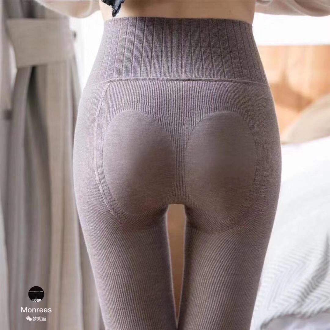 Mạnh Nisi ấm áp mùa thu và mùa đông quần cotton và vỏ cashmere mỏng và hình một quần legging bó sát với bàn chân - Quần nóng lên