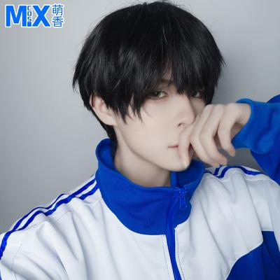 taobao agent Meng Xiangjia camouflage school slag fake hair Xie Yu cos wig black everyday boys short hair cosplay fake found goods