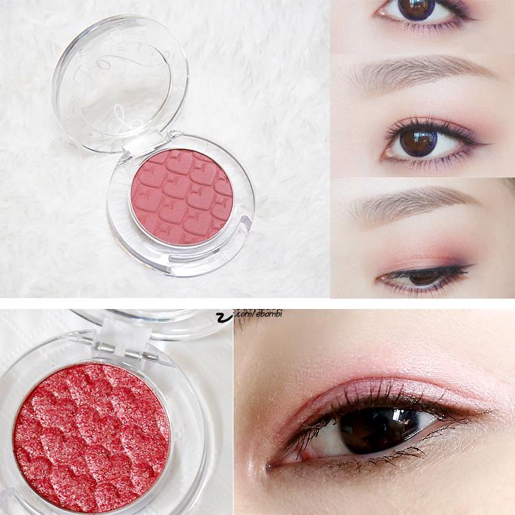 韩国爱丽小屋单色眼影RD301豆沙粉树莓红302酒红OR208干果色422