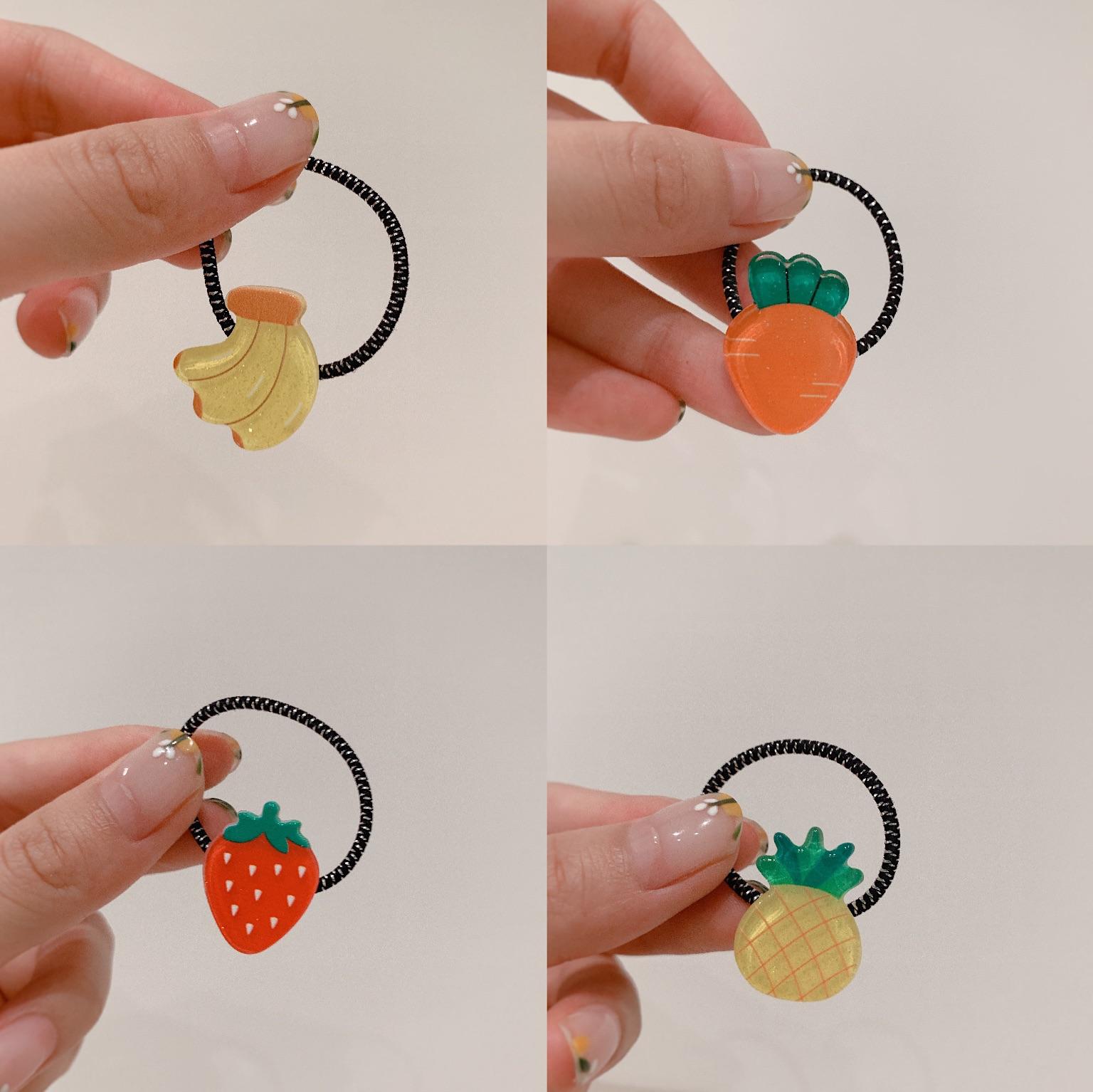 Phụ nữ tóc Hàn Quốc trái cây dâu tây cà rốt chuối kiwi bé tóc vòng dễ thương dây tóc ngọt ngào - Phụ kiện tóc