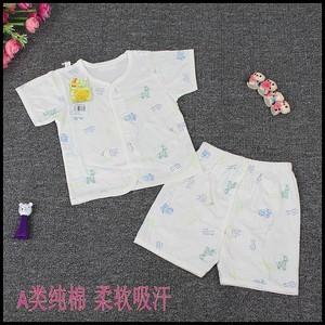 Đặc biệt cung cấp tim Beibei trẻ em mùa hè cotton ngắn tay quần short phù hợp với bé cotton T-Shirt phù hợp với siêu mỏng thoáng khí