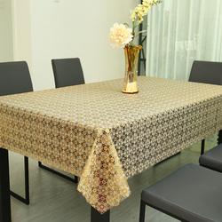 餐桌布防水防烫防油免洗PVC塑料桌布布艺圆桌台布长方形茶几桌垫