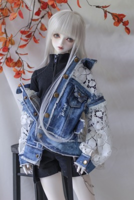 taobao agent -Lies-【endless】bjd/sd/17 Uncle doll denim lace jacket baby clothes top 3 points 4 points