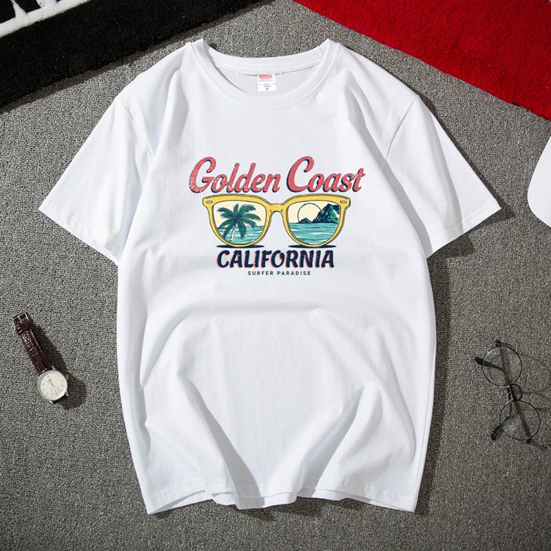 11月26日最新优惠t恤男短袖夏季新款潮流男士宽松白色大码纯棉体恤半袖学生上衣服