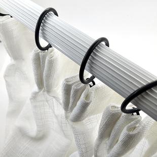 窗帘杆黑色挂环罗马杆金属吊环窗帘挂钩
