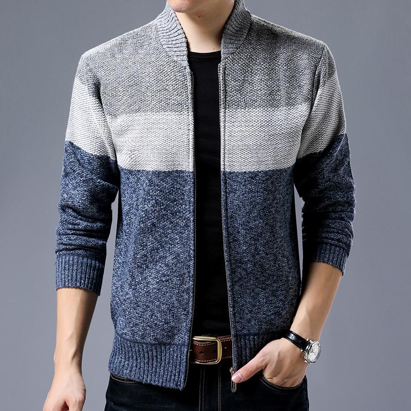 北极绒2020年休闲针织毛衣外套男青少年