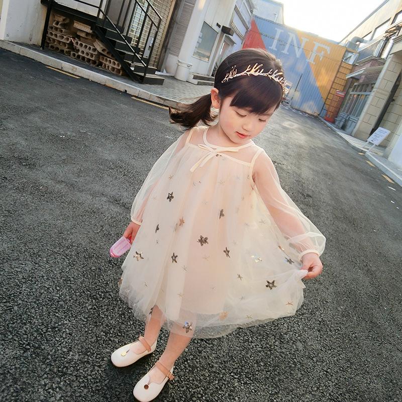 Cô gái mùa xuân 2020 mùa thu mới phong cách ngọt ngào siêu cổ tích váy công chúa cô gái váy poncho váy bé mùa thu mỏng - Váy