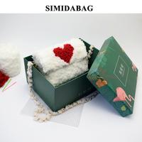 Ручная работа вязанные пакет пакет сделай сам материал пакет сетка шерстяная пряжа домашний один Плечо через плечо пакет вибрато фасон унисекс Ручной ткач пакет