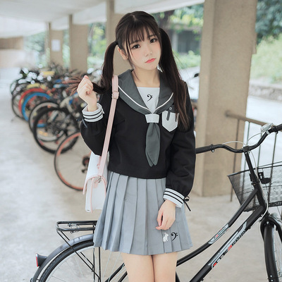 taobao agent Free shipping 18 autumn new Japanese uniform rabbit ears Sapporo collar sailor suit pleated skirt two-piece suit female comic exhibition