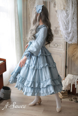 42agent Original five groups * to Xin De Ruila * French girl retro pastoral style full open dress *A Sauce* - Taobao