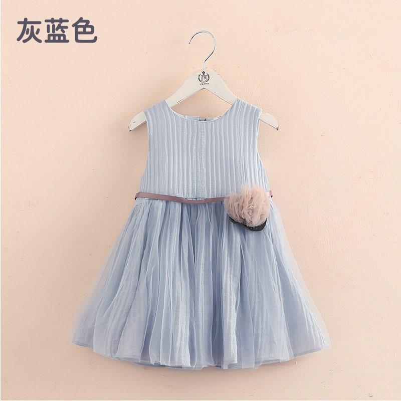 Váy may cho bé 2019 hè mới cho bé gái Quần áo trẻ em không tay vest váy qz-4712 - Váy