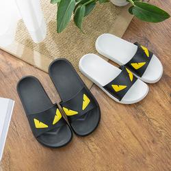 无味夏季小怪兽情侣浴室男女塑料软底防滑家居家用室内凉拖鞋外穿