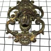 Đồng nguyên chất ba chiều Châu Âu hình đồ trang trí sử dụng Phương Tây sưu tầm hàng cũ đồng cũ Châu Âu hàng Mỹ