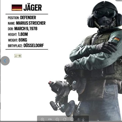 taobao agent 79cos custom-made Rainbow 6 No. 6 cos peripheral game props model Jaeger ADS