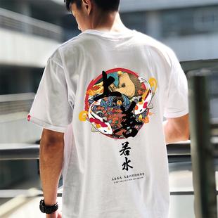 【金牌卖家】纯棉男短袖T恤潮牌宽松男丅恤