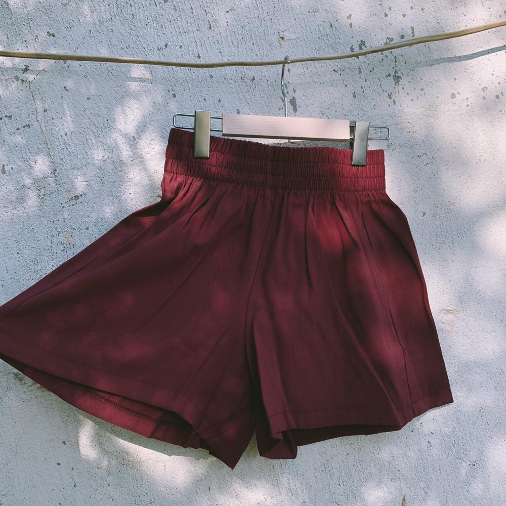 【人棉铜氨丝】西装裤纯色高腰裤女夏季百搭休闲显瘦宽松阔腿短裤