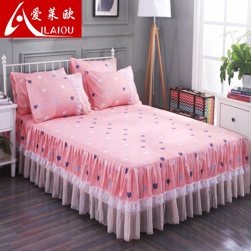 席梦思床裙床罩床套单件韩式床单床盖床笠1.5/1.8米