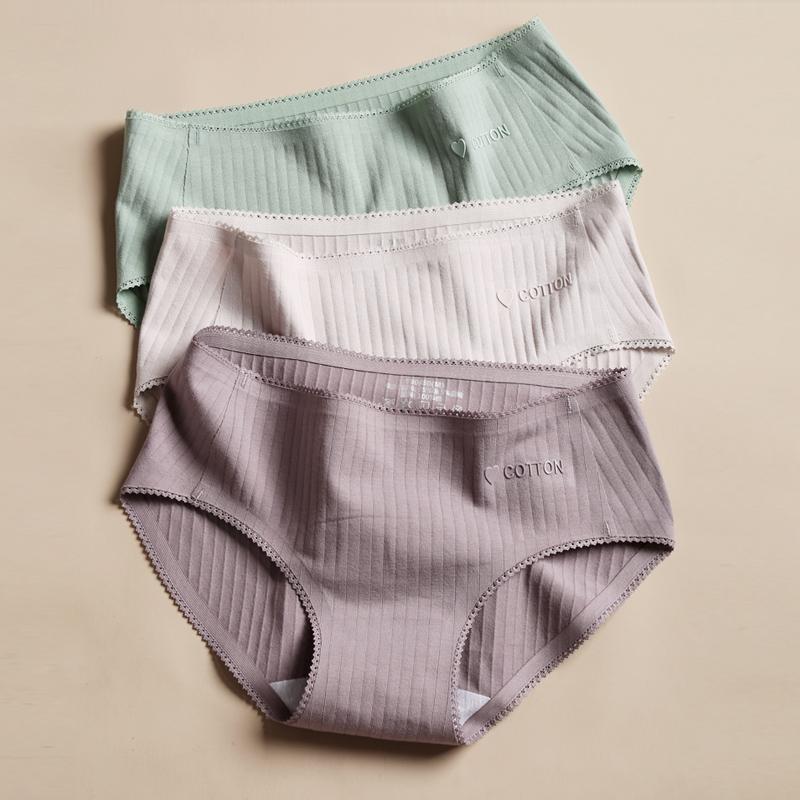 Mới cô gái màu rắn mid-eo eo cotton nữ tóm tắt thoải mái thoáng khí liền quần short gói hông gợi cảm - Cặp đôi